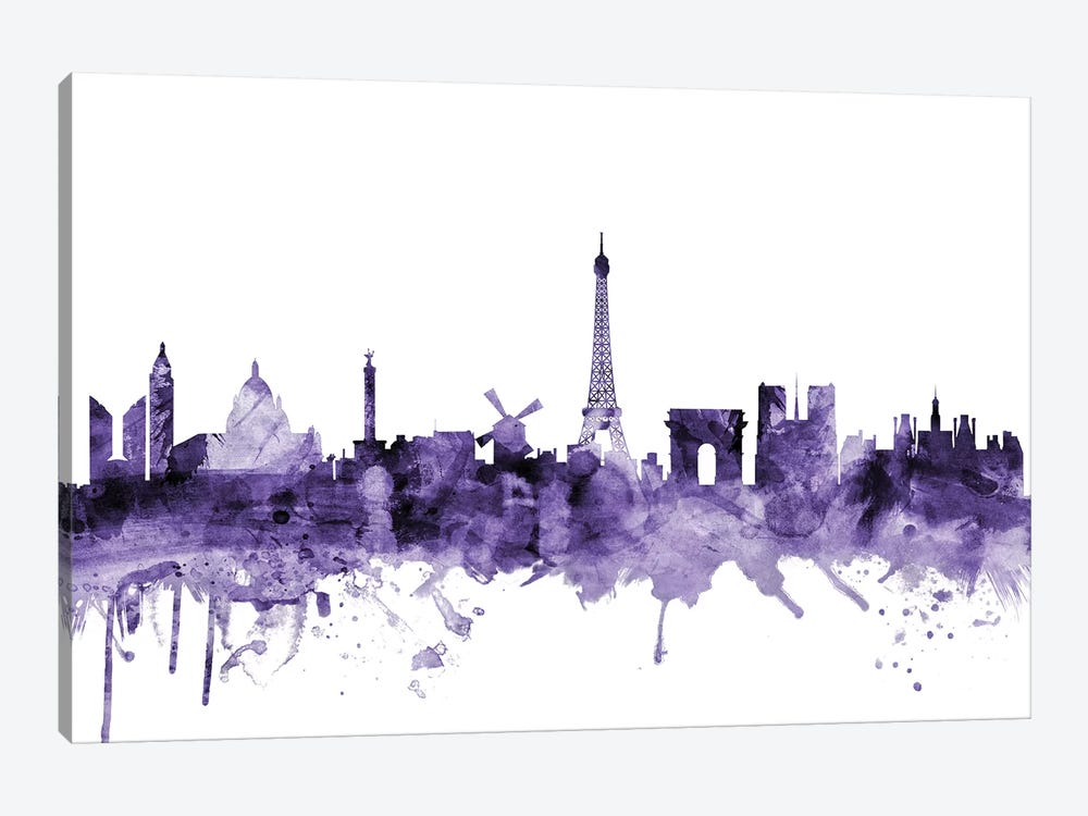 Paris, France Skyline 1-piece Canvas Artwork