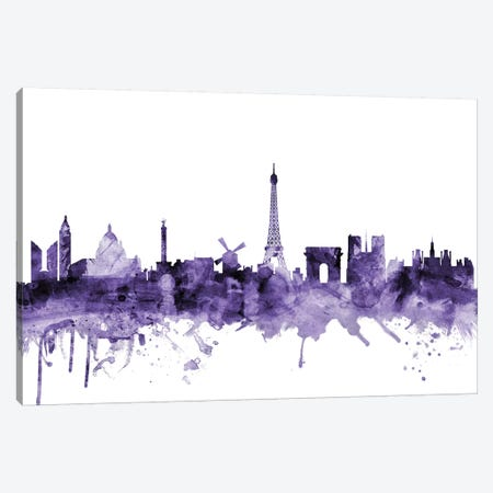 Paris, France Skyline Canvas Print #MTO669} by Michael Tompsett Art Print