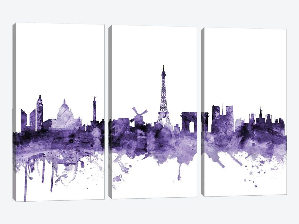 Paris, France Skyline by Michael Tompsett 3-piece Canvas Artwork