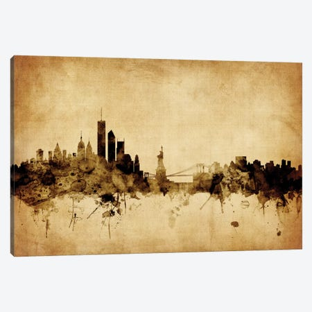 New York City, New York, USA I Canvas Print #MTO66} by Michael Tompsett Canvas Wall Art