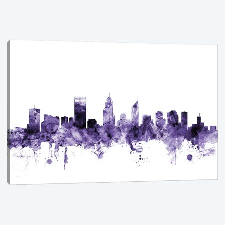 Perth, Australia Skyline Canvas Print #MTO670} by Michael Tompsett Canvas Wall Art