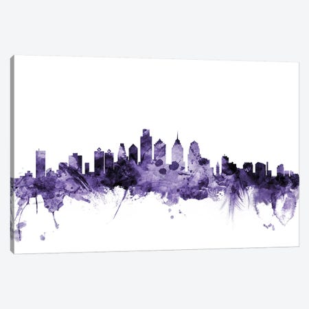 Philadelphia, Pennsylvania Skyline Canvas Print #MTO671} by Michael Tompsett Canvas Art
