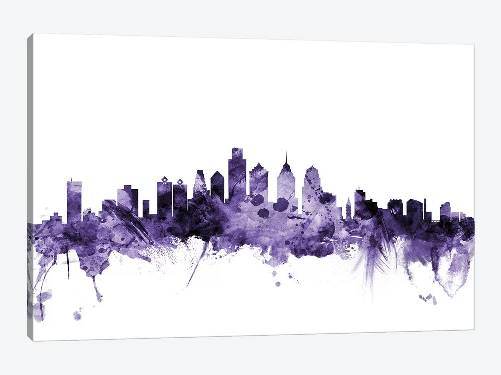 Philadelphia, Pennsylvania Skyline by Michael Tompsett 1-piece Art Print