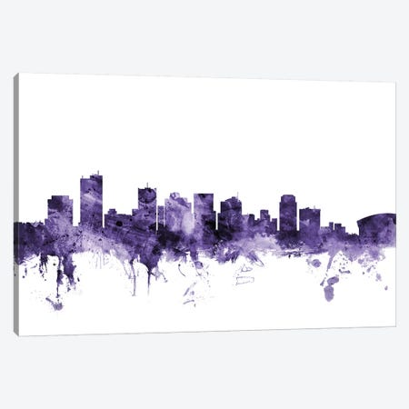 Phoenix, Arizona Skyline Canvas Print #MTO672} by Michael Tompsett Canvas Artwork