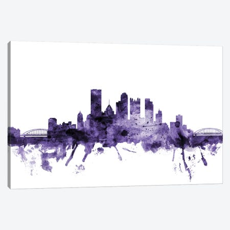 Pittsburgh, Pennsylvania Skyline Canvas Print #MTO673} by Michael Tompsett Canvas Art