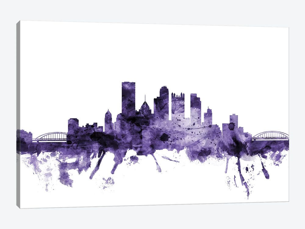 Pittsburgh, Pennsylvania Skyline by Michael Tompsett 1-piece Canvas Print