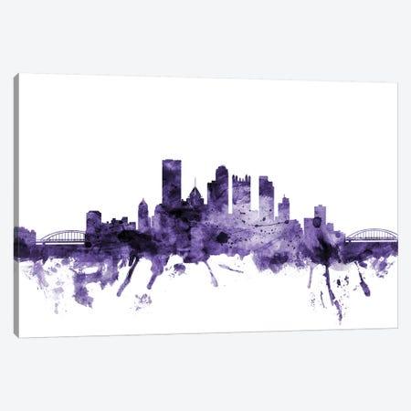 Pittsburgh, Pennsylvania Skyline Canvas Print #MTO673} by Michael Tompsett Canvas Art