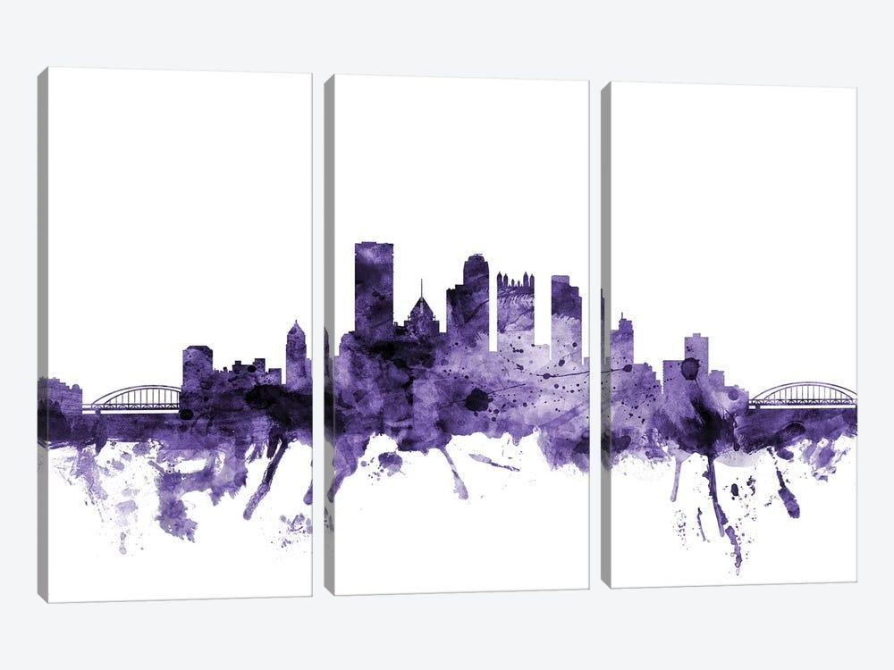 Pittsburgh, Pennsylvania Skyline by Michael Tompsett 3-piece Canvas Print