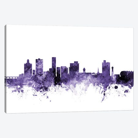 Port Elizabeth, South Africa Skyline Canvas Print #MTO675} by Michael Tompsett Art Print
