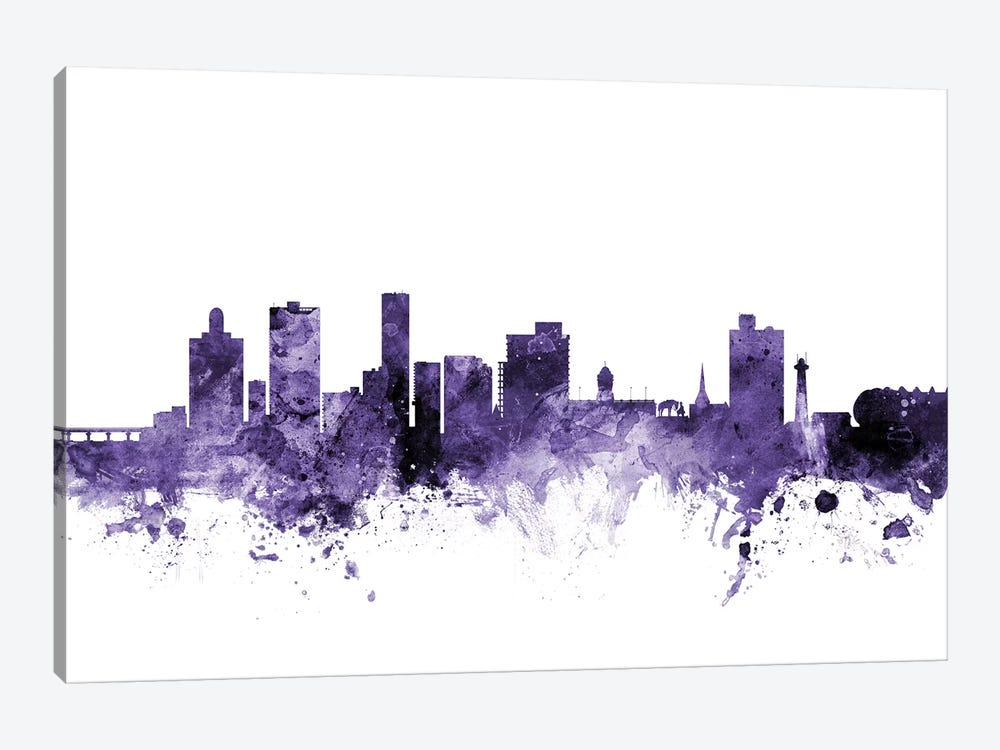 Port Elizabeth, South Africa Skyline by Michael Tompsett 1-piece Canvas Art Print