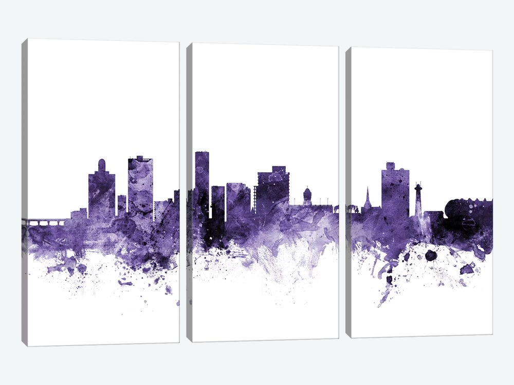 Port Elizabeth, South Africa Skyline by Michael Tompsett 3-piece Canvas Print