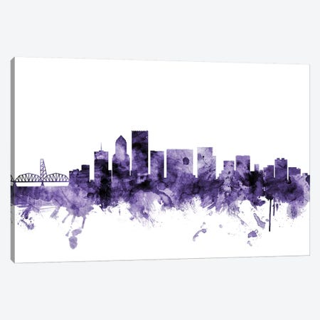 Portland, Oregon Skyline Canvas Print #MTO676} by Michael Tompsett Canvas Print