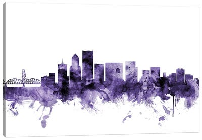 Portland, Oregon Skyline Canvas Art Print
