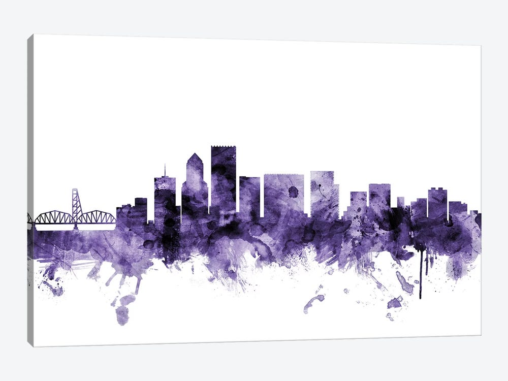 Portland, Oregon Skyline 1-piece Canvas Artwork