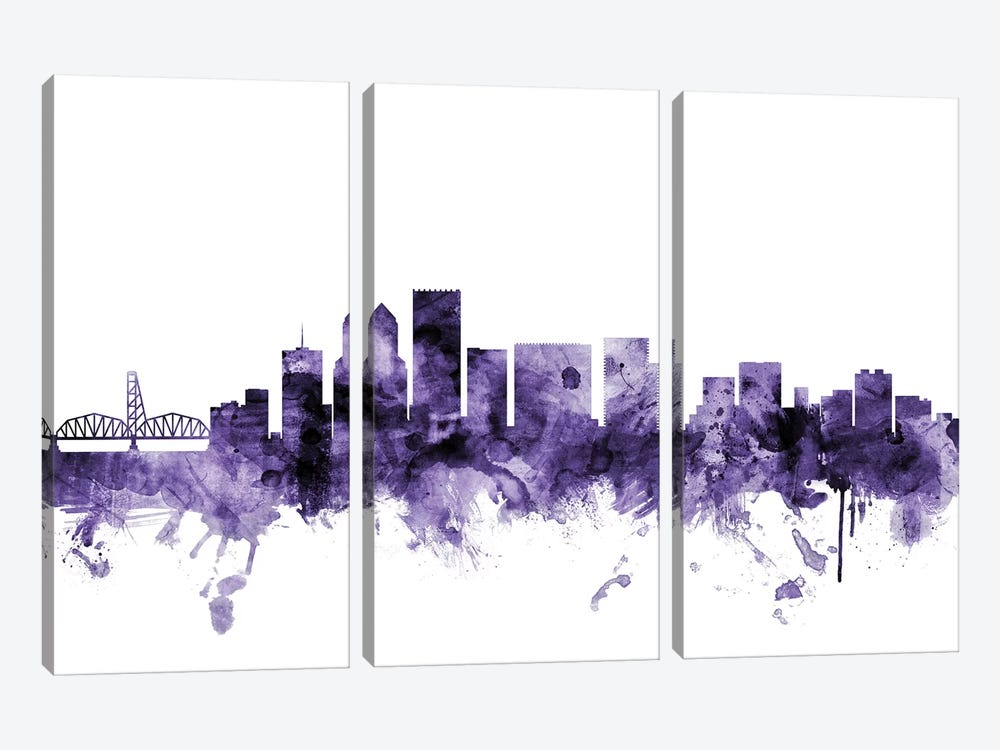 Portland, Oregon Skyline by Michael Tompsett 3-piece Canvas Artwork