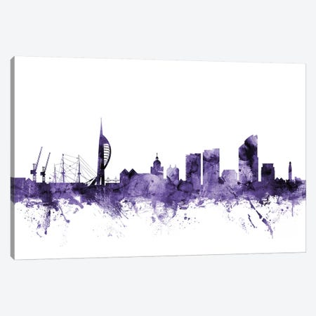 Portsmouth, England Skyline Canvas Print #MTO677} by Michael Tompsett Art Print