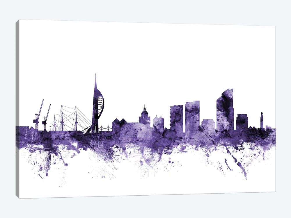 Portsmouth, England Skyline by Michael Tompsett 1-piece Canvas Print