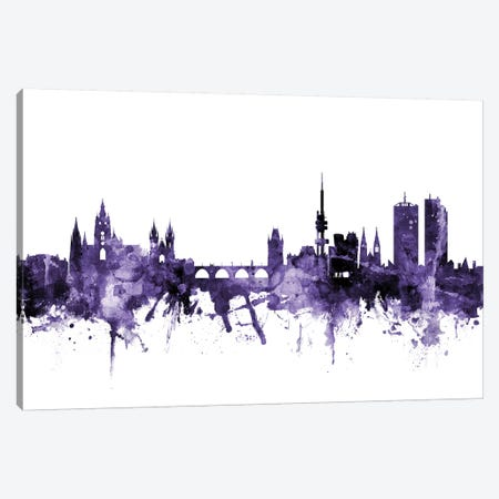 Prague (Praha), Czech Republic Skyline Canvas Print #MTO678} by Michael Tompsett Canvas Artwork