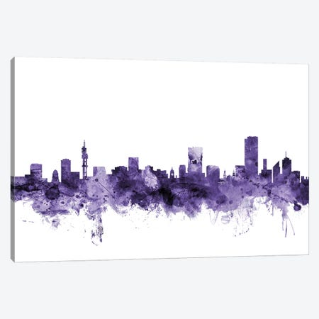 Pretoria, South Africa Skyline Canvas Print #MTO679} by Michael Tompsett Canvas Artwork
