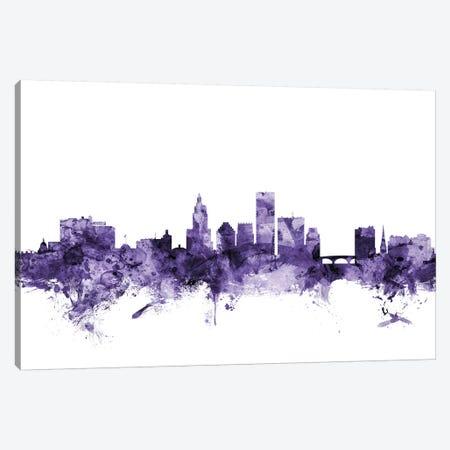 Providence, Rhode Island Skyline 3-Piece Canvas #MTO680} by Michael Tompsett Canvas Print