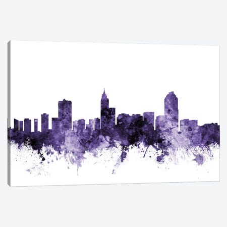 Raleigh, North Carolina Skyline Canvas Print #MTO682} by Michael Tompsett Art Print