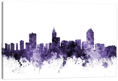 Raleigh, North Carolina Skyline Canvas Art Print