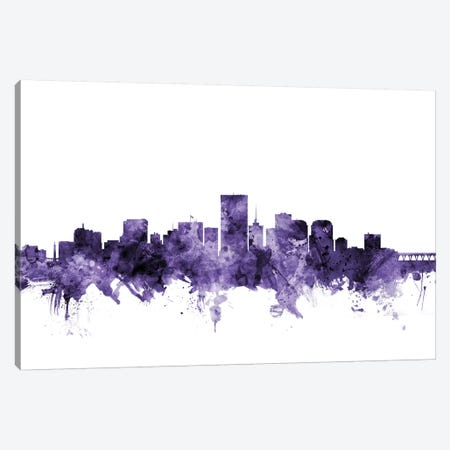 Richmond, Virginia Skyline Canvas Print #MTO683} by Michael Tompsett Art Print