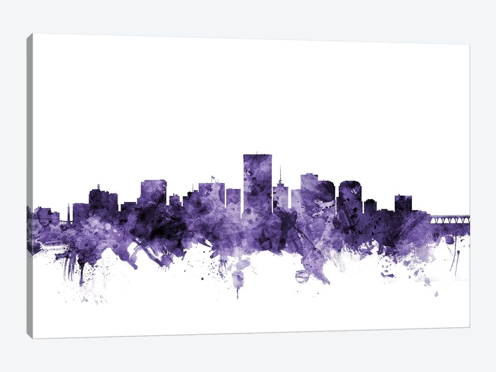 Richmond, Virginia Skyline by Michael Tompsett 1-piece Canvas Wall Art