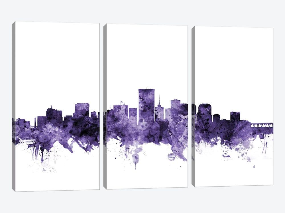 Richmond, Virginia Skyline by Michael Tompsett 3-piece Canvas Artwork