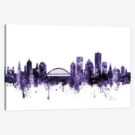 Rochester, New York Skyline Canvas Print #MTO684} by Michael Tompsett Canvas Artwork