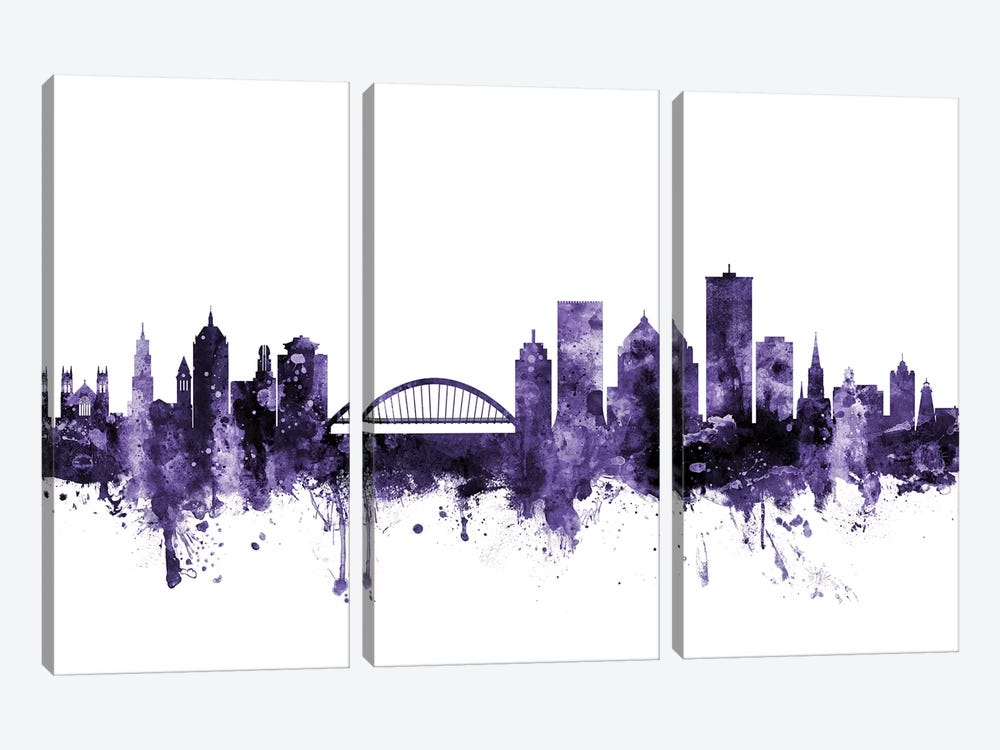 Rochester, New York Skyline by Michael Tompsett 3-piece Canvas Art Print