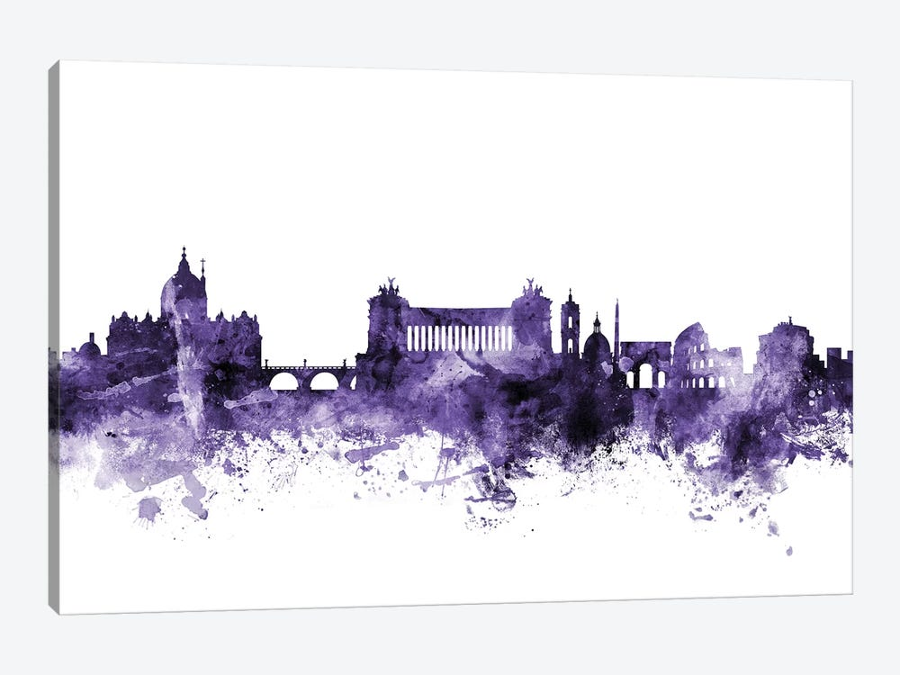 Rome, Italy Skyline by Michael Tompsett 1-piece Canvas Artwork