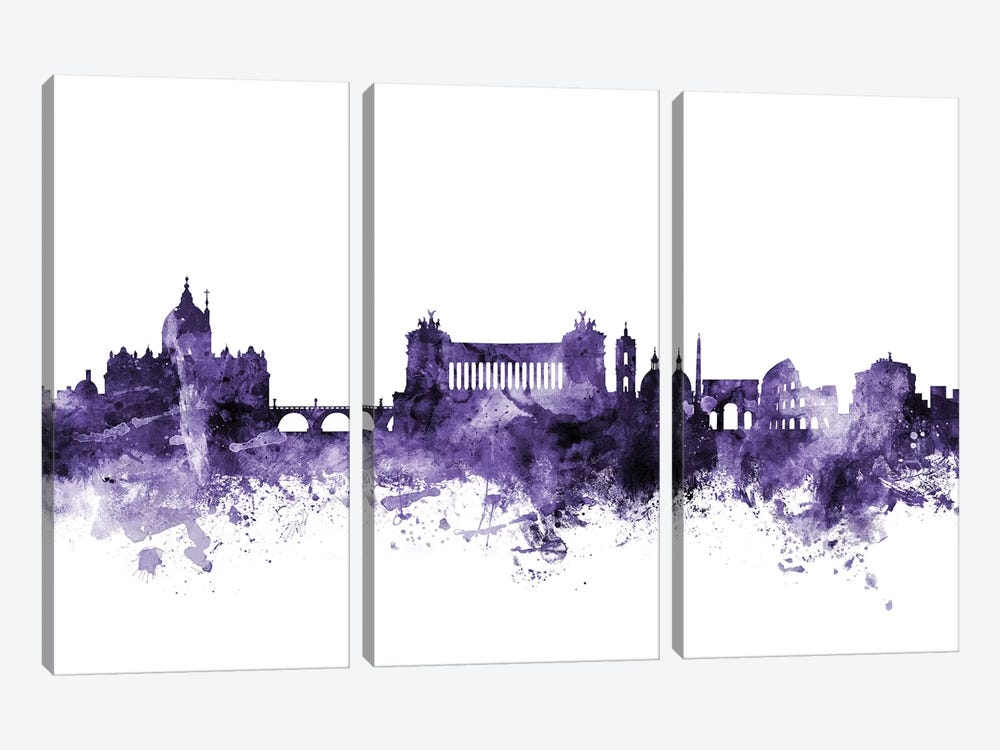Rome, Italy Skyline by Michael Tompsett 3-piece Canvas Artwork
