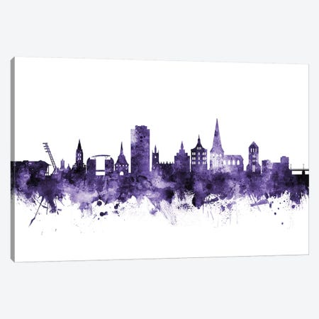 Rostock, Germany Skyline Canvas Print #MTO686} by Michael Tompsett Canvas Wall Art