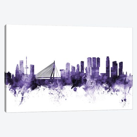 Rotterdam, The Netherlands Skyline Canvas Print #MTO687} by Michael Tompsett Canvas Art