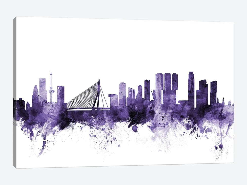 Rotterdam, The Netherlands Skyline by Michael Tompsett 1-piece Canvas Artwork