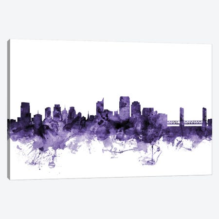 Sacramento, California Skyline Canvas Print #MTO688} by Michael Tompsett Art Print