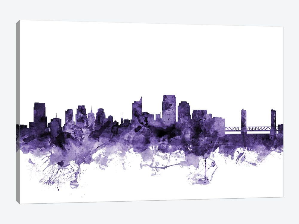Sacramento, California Skyline by Michael Tompsett 1-piece Art Print