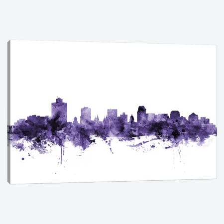 Salt Lake City, Utah Skyline Canvas Print #MTO689} by Michael Tompsett Canvas Print