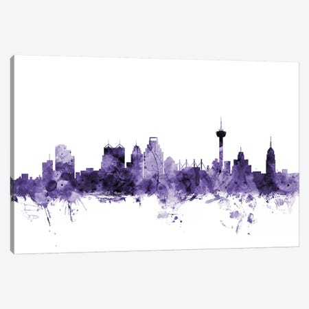 San Antonio, Texas Skyline Canvas Print #MTO691} by Michael Tompsett Canvas Artwork