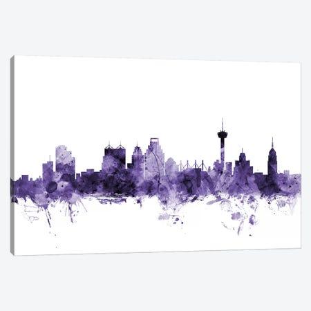 San Antonio, Texas Skyline Canvas Print #MTO691} by Michael Tompsett Canvas Artwork