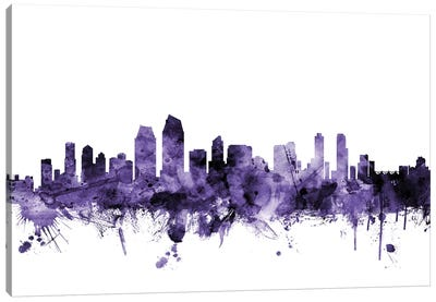 San Diego, California Skyline Canvas Art Print