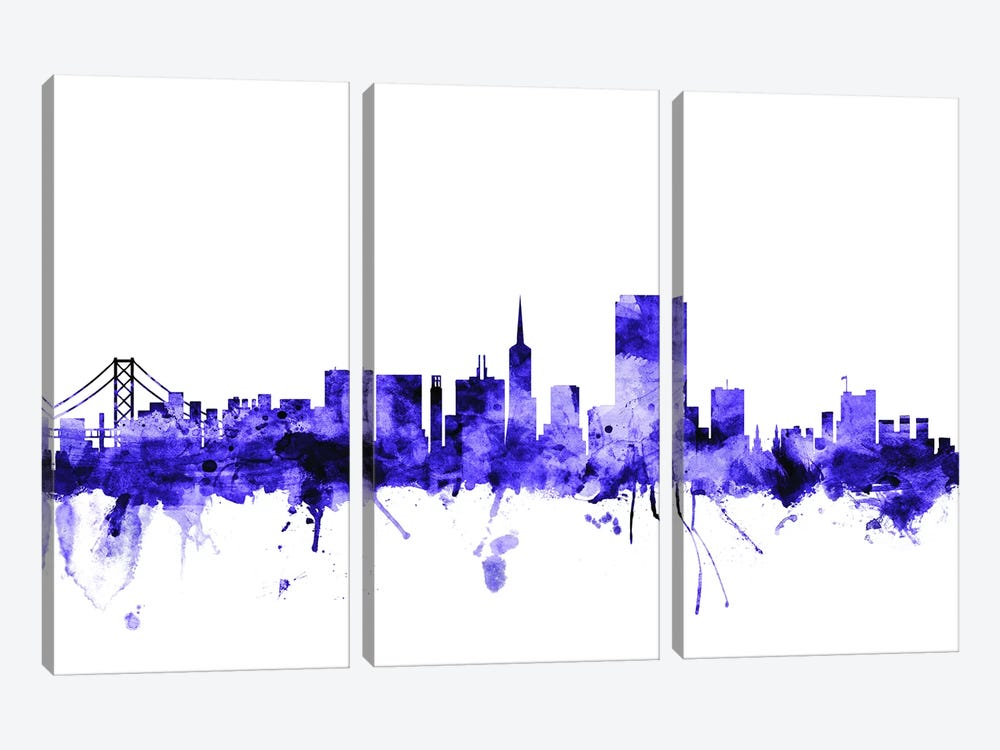 San Francisco, California Skyline I by Michael Tompsett 3-piece Art Print