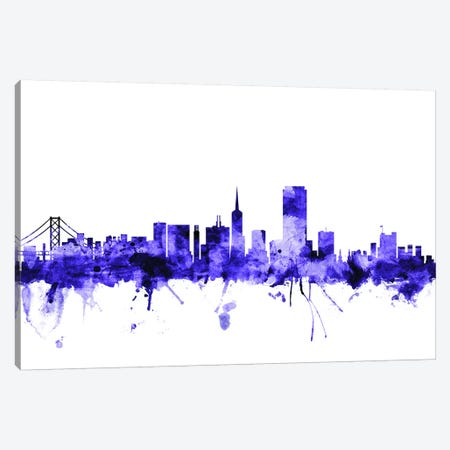 San Francisco, California Skyline I Canvas Print #MTO693} by Michael Tompsett Canvas Artwork