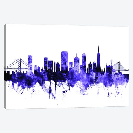 San Francisco, California Skyline II Canvas Print #MTO694} by Michael Tompsett Canvas Print