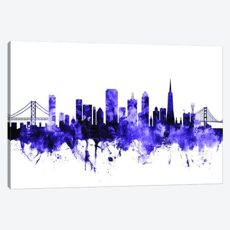 San Francisco, California Skyline II Canvas Print #MTO694} by Michael Tompsett Canvas Print