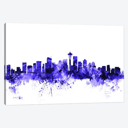 Seattle, Washington Skyline Canvas Print #MTO697} by Michael Tompsett Art Print