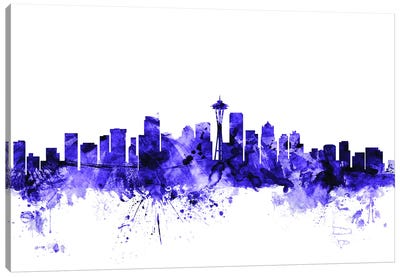 Seattle, Washington Skyline Canvas Art Print