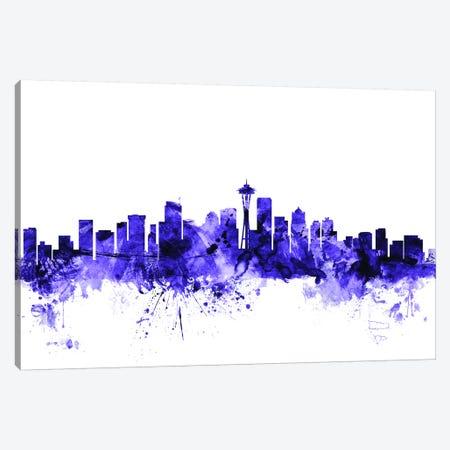 Seattle, Washington Skyline Canvas Print #MTO697} by Michael Tompsett Art Print
