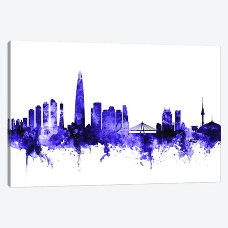 Seoul, South Korea Skyline Canvas Print #MTO698} by Michael Tompsett Canvas Artwork